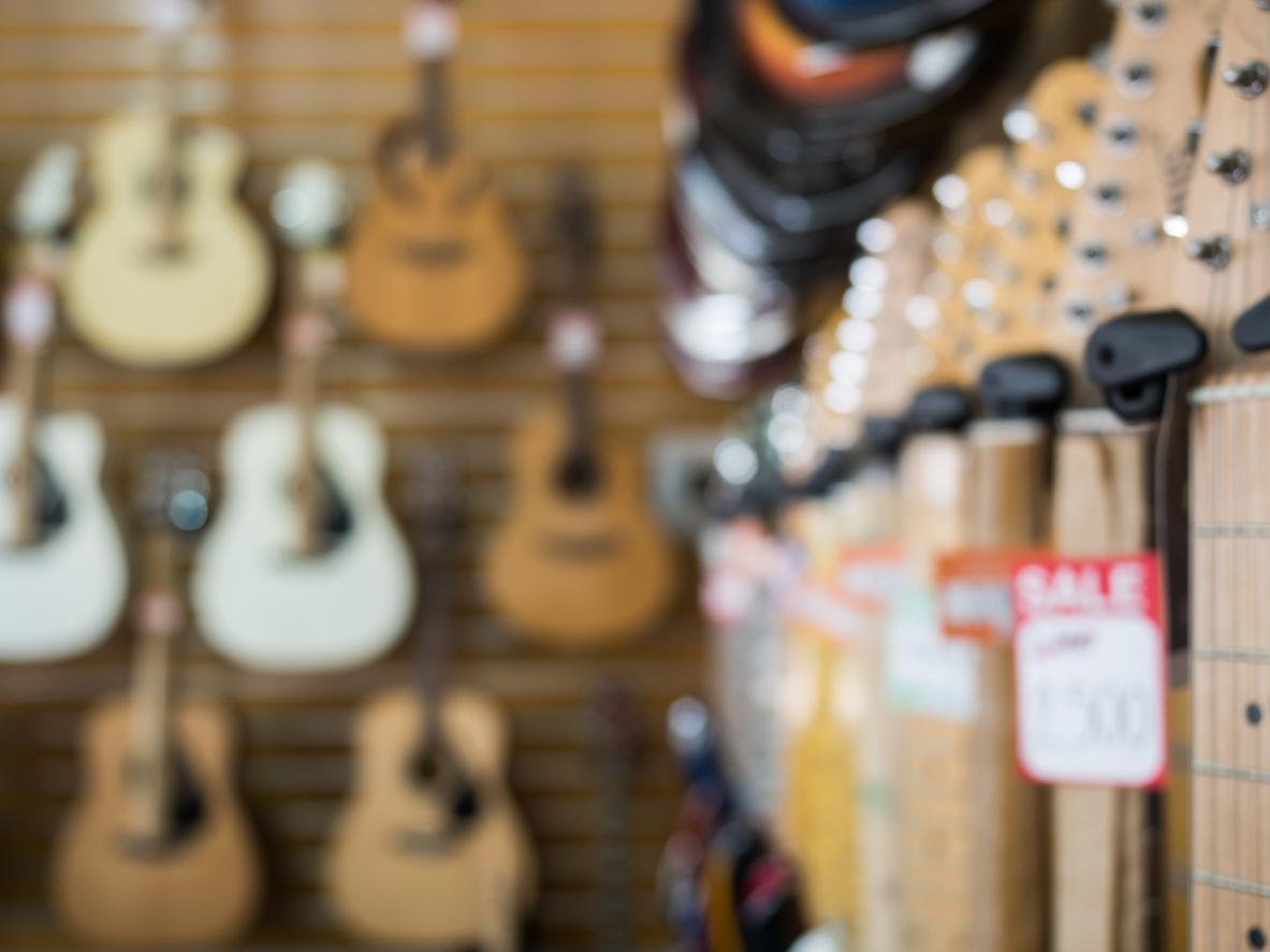 Köpa ditt första musikinstrument